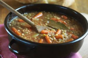 Čočková polévka podle Pohlreicha